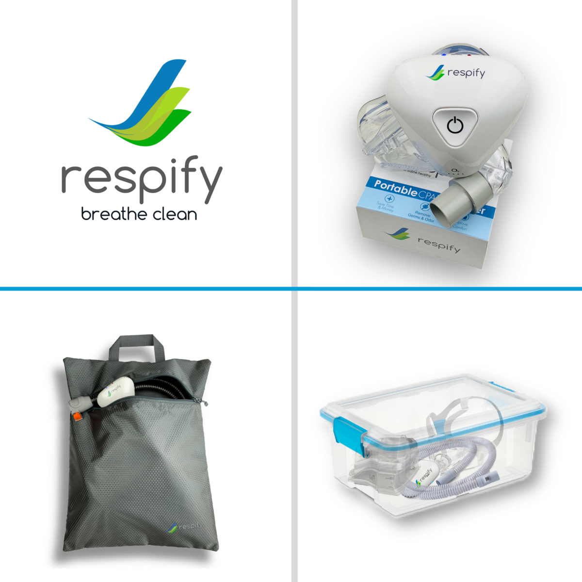 Respify Cpap Cleaner And Sanitizer Deluxe Home And Travel System Cpap Sanitizer Cleaners