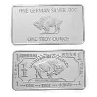 Wish United States Of America Buffalo One Troy Ounce Fine German Silver 999 Plated Coins Souvenir Gifts Metal Craf Coin Collecting German Silver Silver Bars