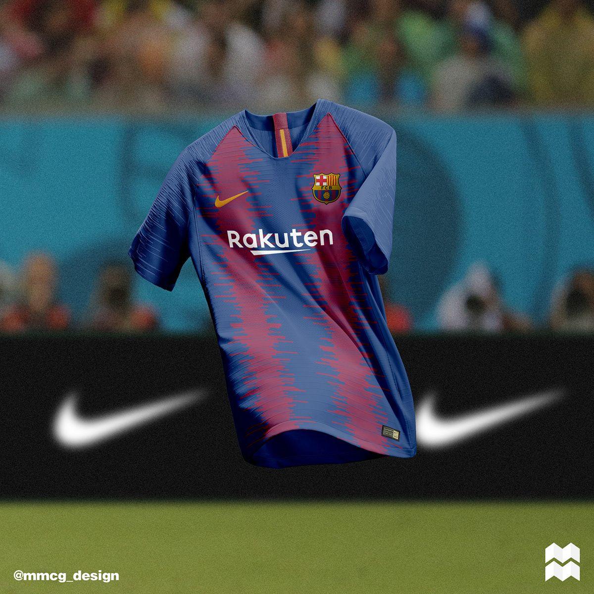 Nike F C Barcelona Home Away Jerseys 2018 19 On Behance Camisa De Futbol Camisetas Deportivas Camisas De Futbol