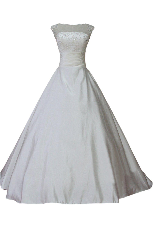 Gorgeous Bride Fashion Rundkragen A-Linie Lang Satin Tuell ...