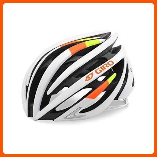 Giro Aeon Road Helmet Matte White Lime Flame Large Useful Things For Bikers Amazon Partner Link Cycling Helmet Helmet Bike Helmet