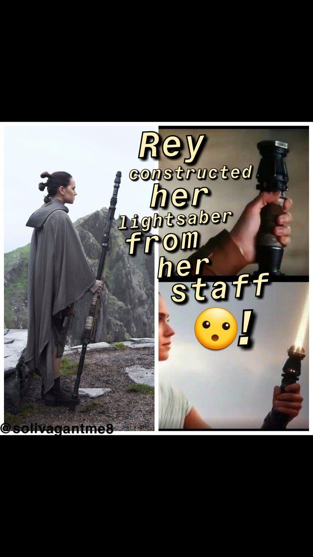 Rey Constructed Her Yellow Lightsaber From Her Scavenger Staff Tros Riseofskywalker Rey Star Wars Star Wars Art Yoda Lightsaber