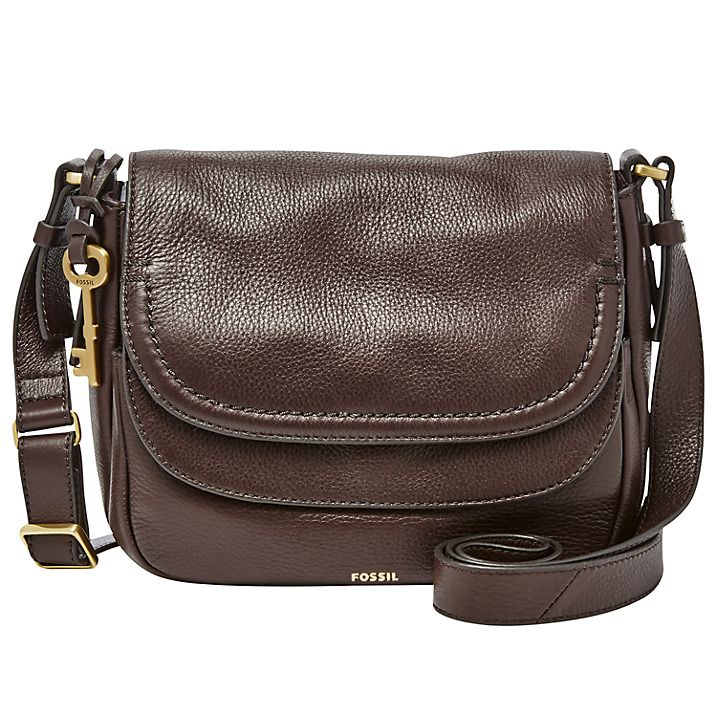 7bd36f04d0 Buy Fossil Peyton Leather Double Flap Across Body Bag