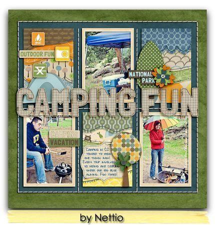 Inspiration du Jour – Camping Fun – Scrap Booking