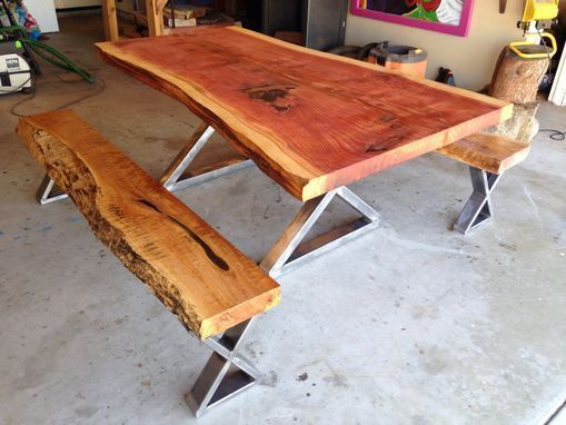 Redwood Walnut Maple Dinning table with by TheTimberLibrary - #dinning #maple #r...#dinning #maple #redwood #table #thetimberlibrary #walnut