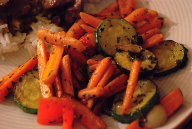 Zucchini and Carrots With Garlic and Herbs. Photo by carmenskitchen