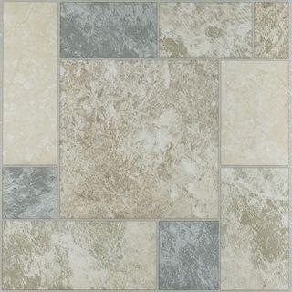 nexus 12 x 12 inch marble vinyl floor tile