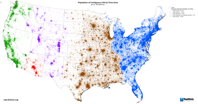 Us Population By Time Zone Https Sub Division Org 2020 06 02 Timezonepop In 2020 Daylight Savings Daylight Time Zones