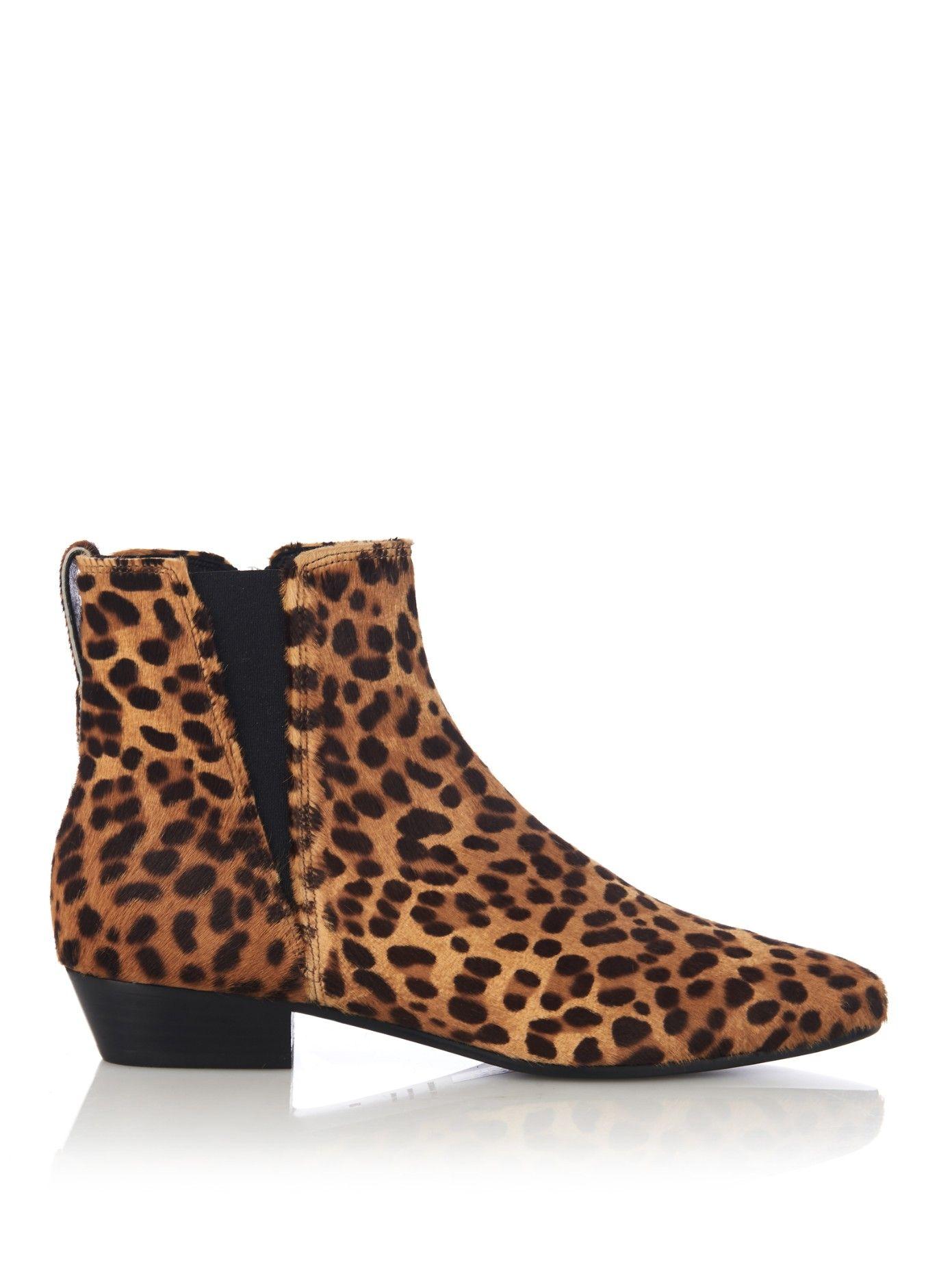 11937abcd3d Patsha leopard calf-hair chelsea boots | Isabel Marant | MATCHESFASHION.COM
