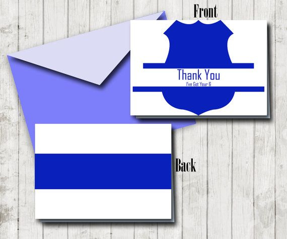 Printable Police Thank You Note Blue Line Card Instant Etsy In 2021 Thank You Notes Thank You Cards Cards