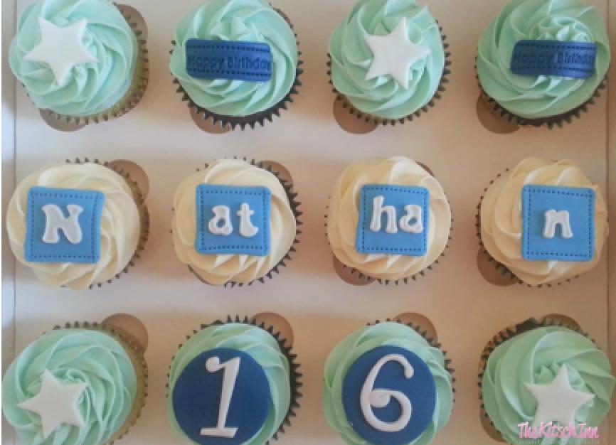 Happy 16th Birthday Nathan Birthday Cupcakes Pinterest Happy