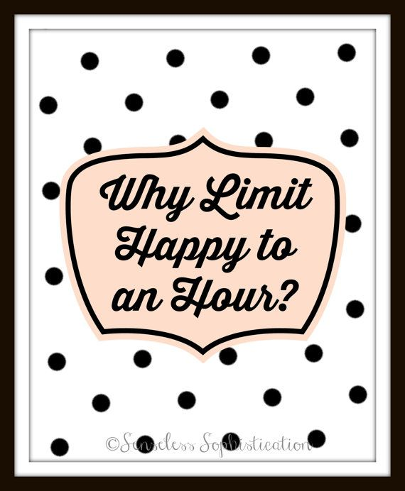 Happy Hour Polka Dot Print / Black and White / by emilyhatch, $10.00