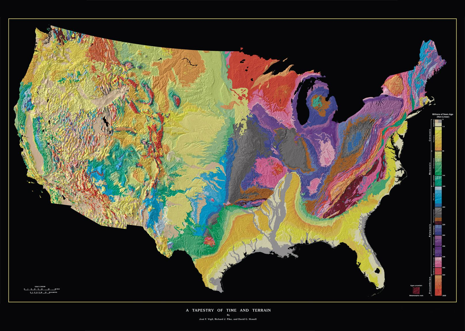 USGS geologic map of the continental U