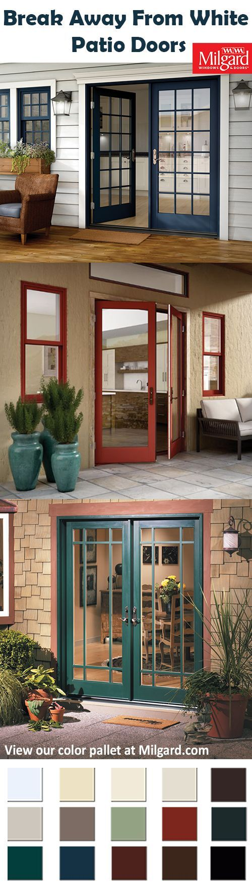 Try Something New With Unique Patio Doors Colors From Evening Sky