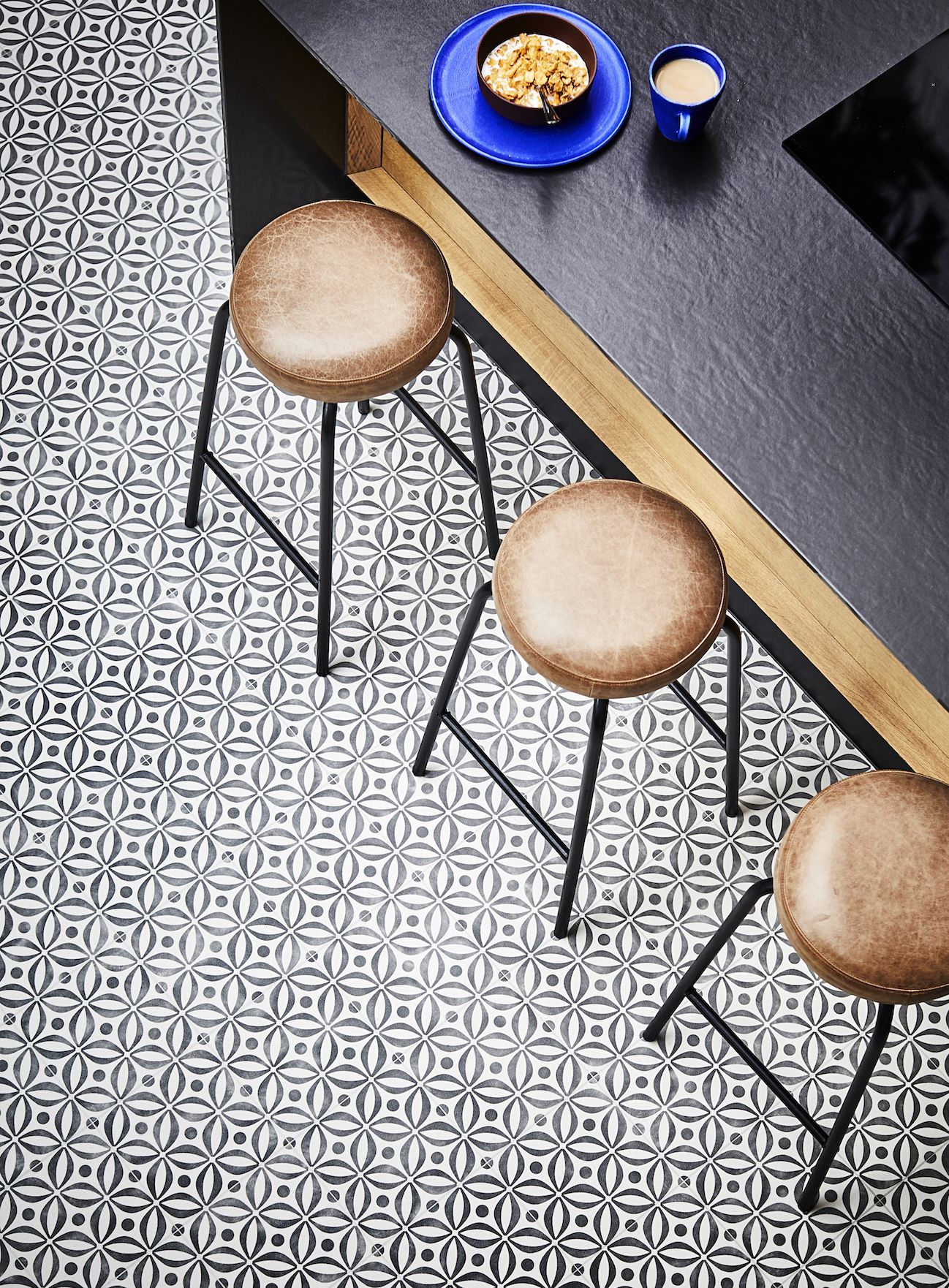 Stylish new vinyl flooring from the Carpetright x House