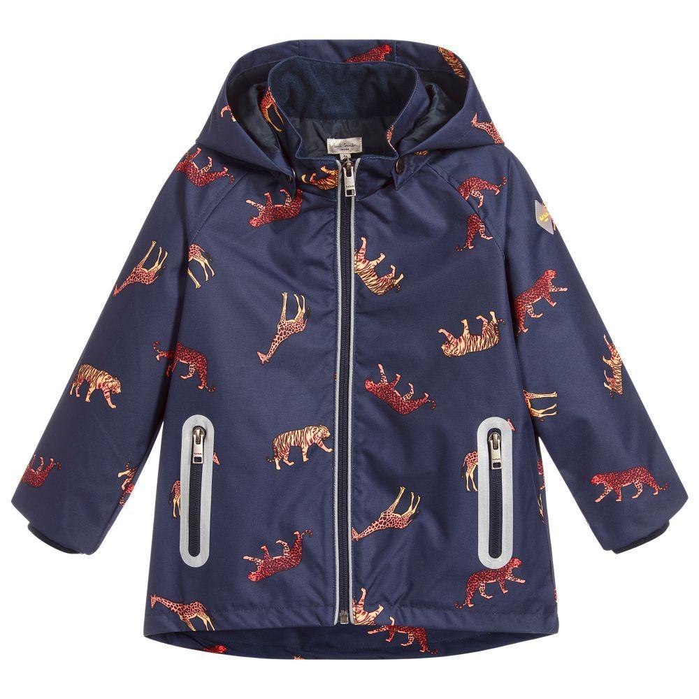 Paul Smith Junior Boys Blue Animal Raincoat At Childrensalon Com Boys Rain Coat Create Wardrobe Clothes Design [ 1000 x 1000 Pixel ]