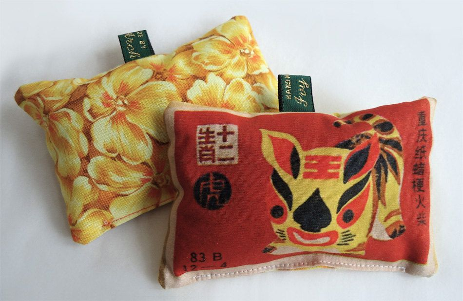 Chinese zodiac tiger lavender bag. Handmade by Ivy Arch