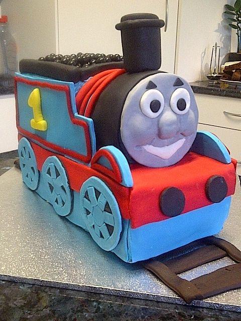 My Thomas the tank engine cake