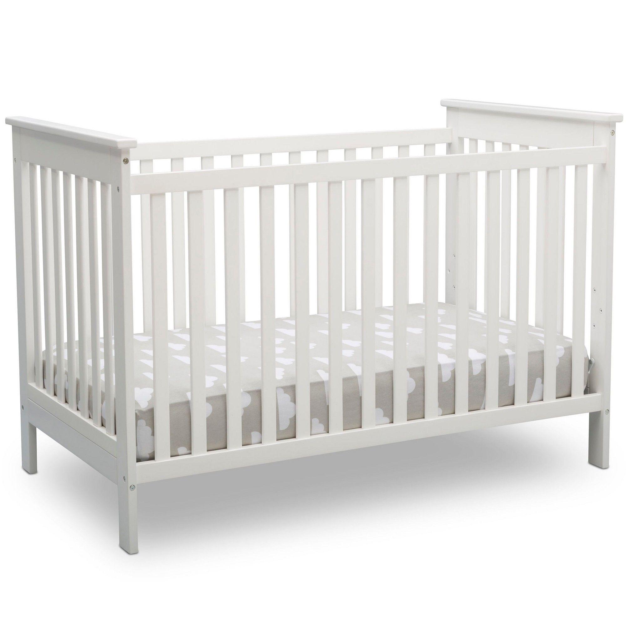 Delta Children Adley 3 In 1 Crib Bianca White Cribs Baby Cribs Convertible Delta Children