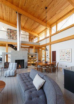 Modern Timber Frame Remodel Bedroom Outdoor Kitchen Design Timber Frame Homes