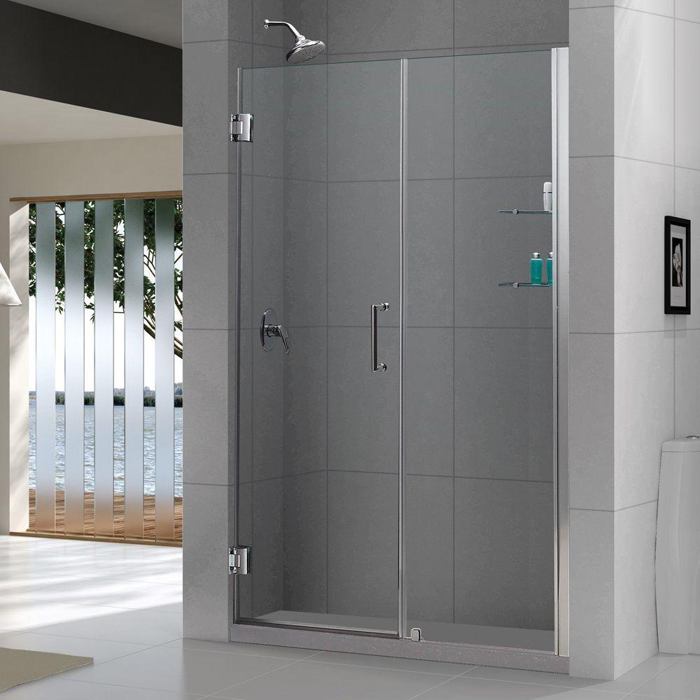 Dreamline Unidoor 51 52 In W X 72 In H Frameless Hinged Shower