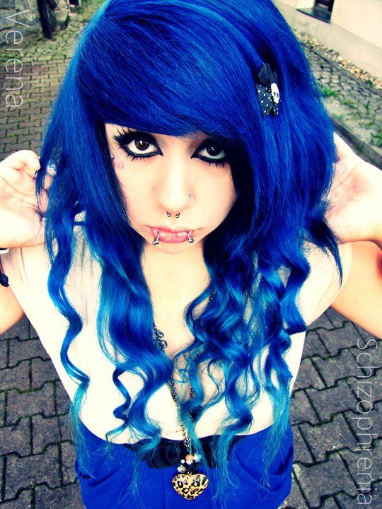 Verena Schizophrenia Blue Dyed Hair Pretty Color Me Pretty