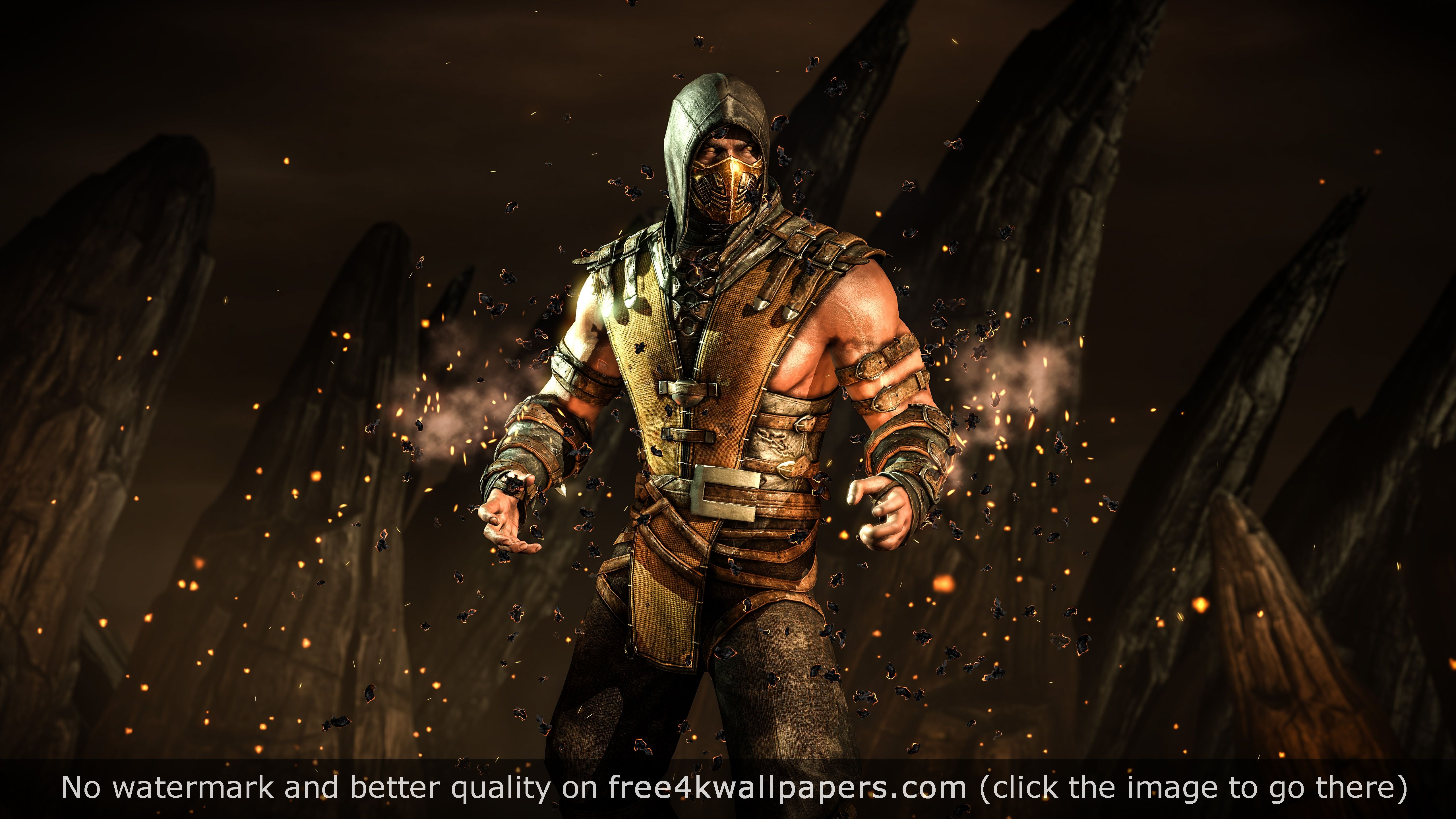 Mortal Kombat X Scorpion Hellfire 4k Wallpaper Mortal Kombat X Wallpapers Mortal Kombat X Scorpion Mortal Kombat X