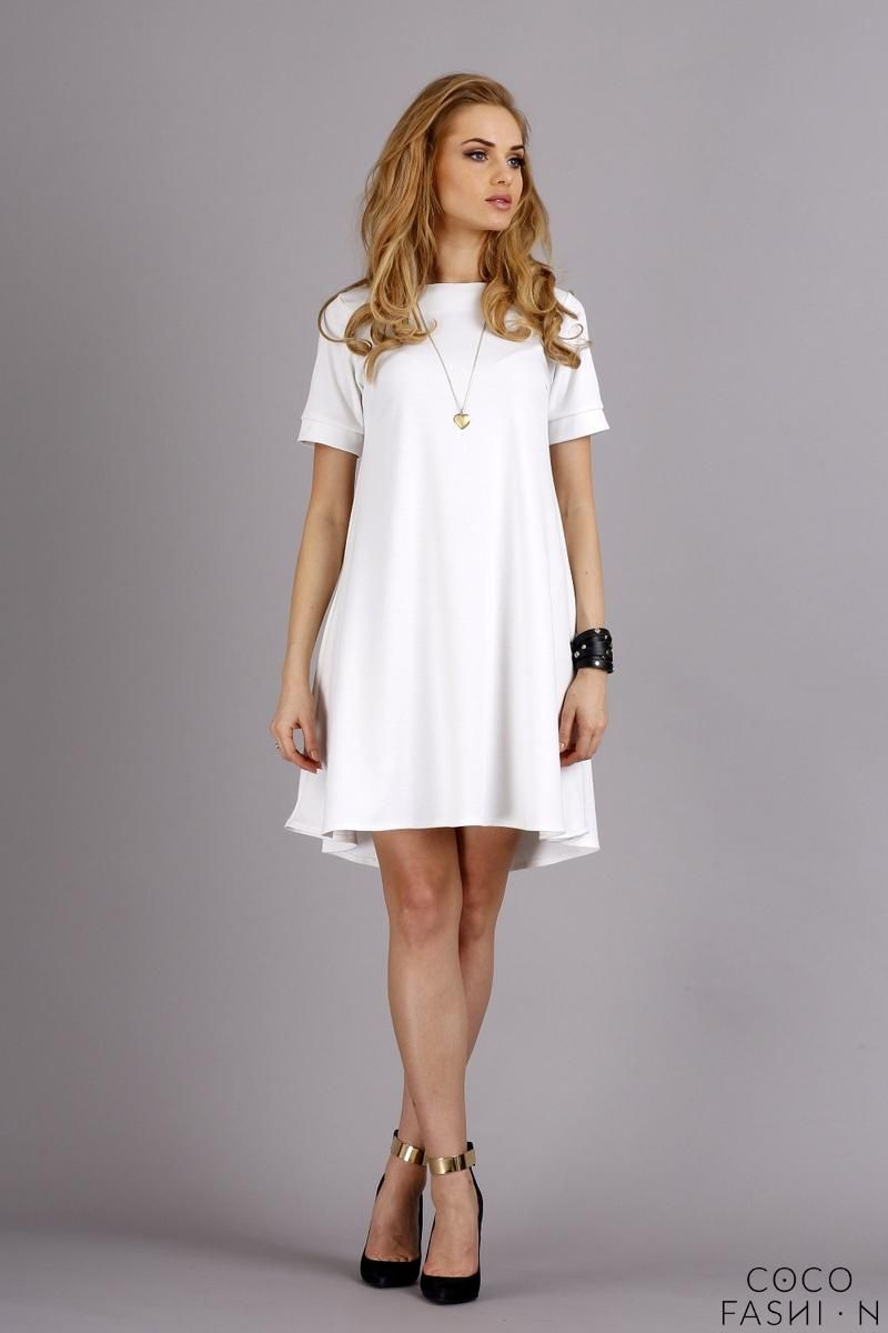 Short sleeves flared knee length dress would go awesome with