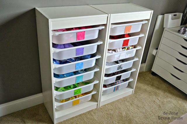 de Jong Dream House: Organize | Fabric Scraps
