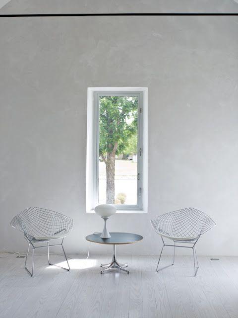 Harry Bertoia Diamond Chairs and George Nelson coffee table. Architecture  InteriorsDesign ...
