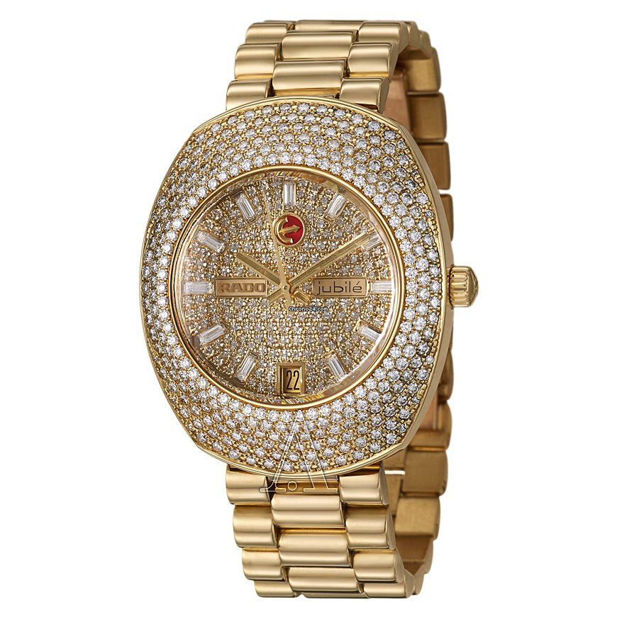 Rado Women's Royal Dream Jubile Watch $58,200 #Rado #watch #watches #luxury #rare yellow gold case with yellow gold bracelet and automatic movement