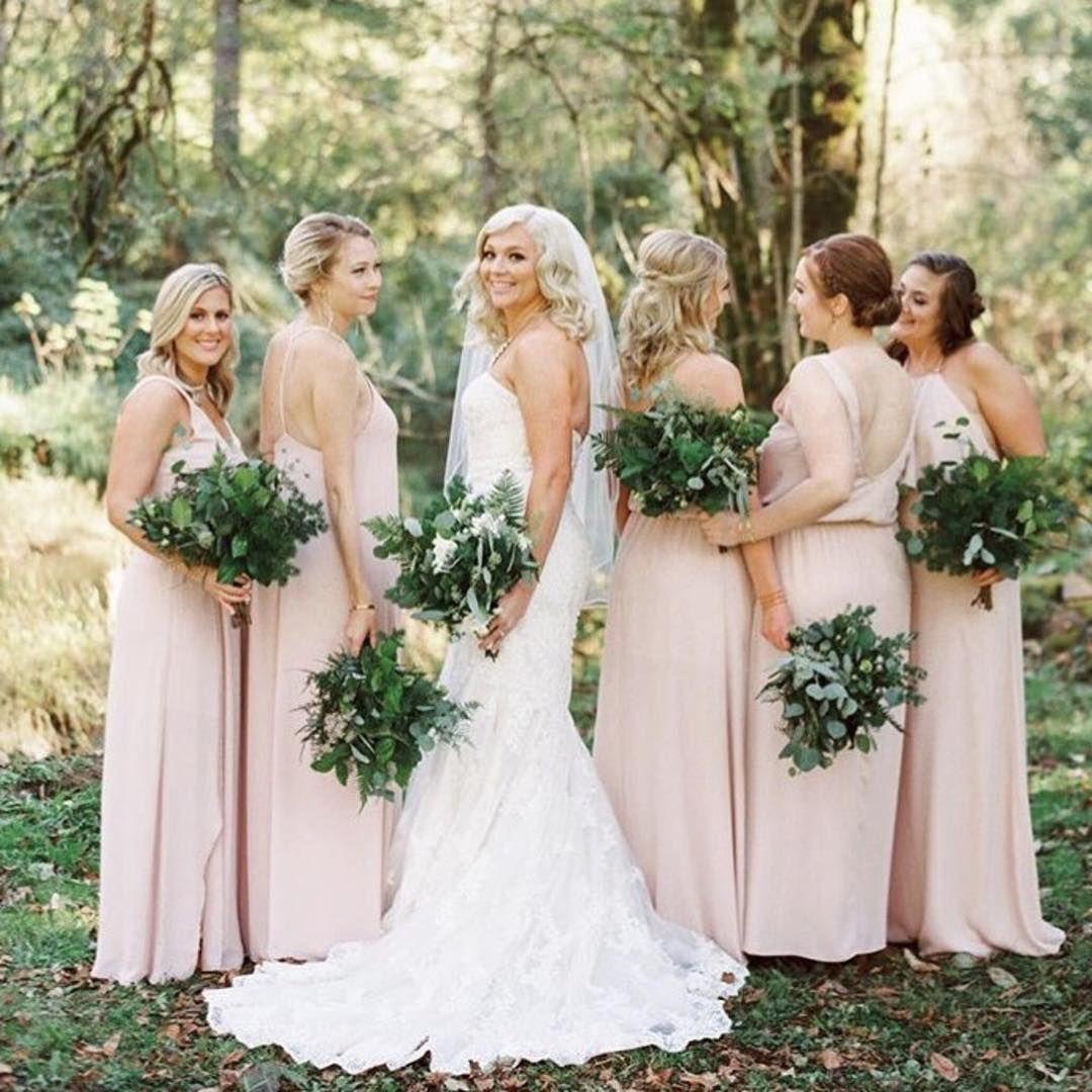 dusty blush bridesmaid dresses