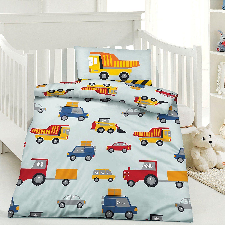 Werbung Bauarbeiter Kinder Bettwäsche 100 X 135 Cm Kissen 40 X