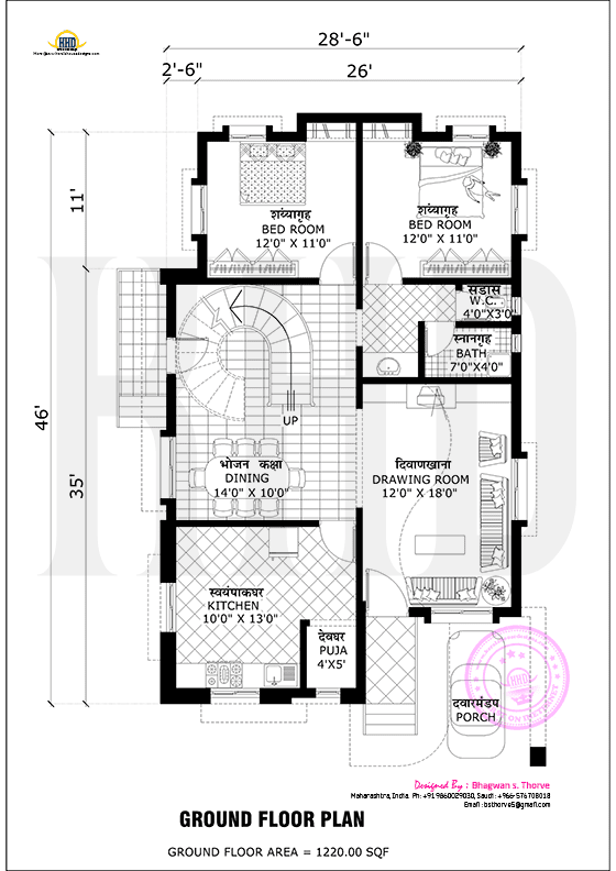 Free Floor Plan Of 2365 Sq Ft Home Free Floor Plans Home Design Floor Plans Model House Plan