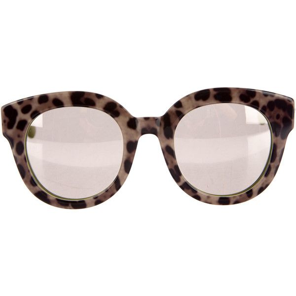 aaf50cf061b Pre-owned Dolce   Gabbana Mirrored Leopard Sunglassses ( 175) ❤ liked on  Polyvore featuring accessories