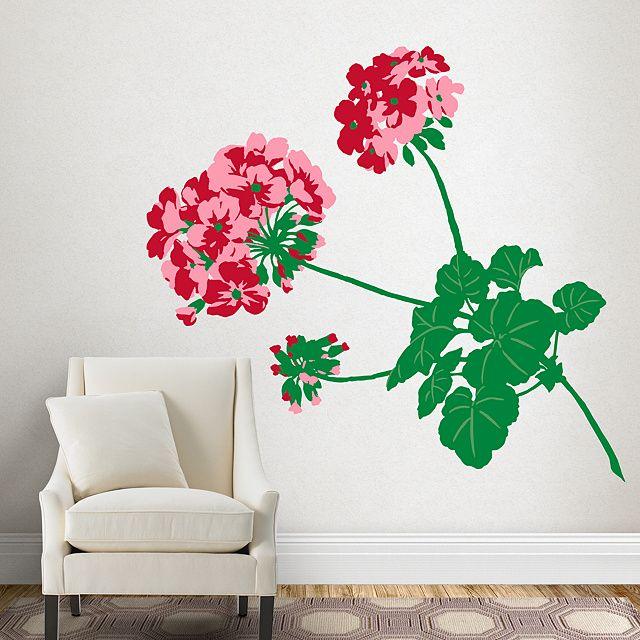 Bold Geranium Oversized Nature Martha Stewart Wall Art Dibujos