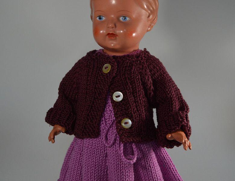 Puppenkleidung - Strickjacke für 32 cm Puppe - ein Designerstück von Monikas-Puppenmode bei DaWanda
