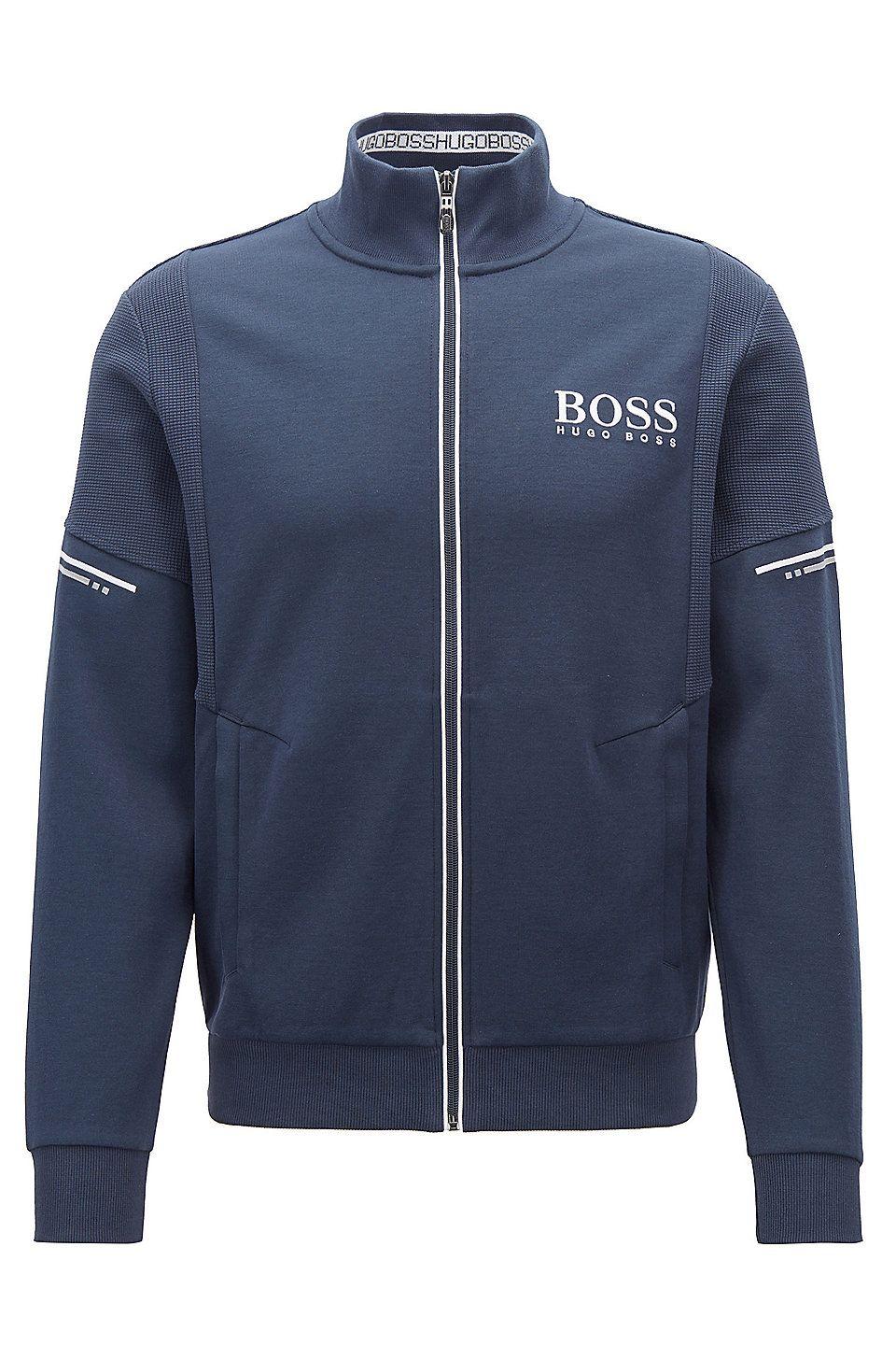 Hugo Boss Men/'s Relaxed Fit Hooded Sweatshirt Sweater Hoodie Track Jacket