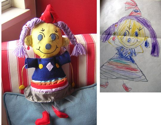 On-line store that turns child's drawing into a stuffed toy....such a cool idea!!