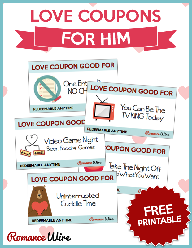 Printable relationship coupons