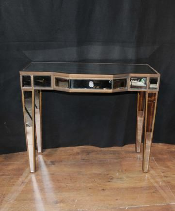 Marvelous Art Deco Mirror Console Table Mirrored Hall Tables Furniture