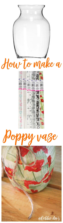 Dollar tree poppy vase craft dollar stores and crafty for Craft paper dollar tree