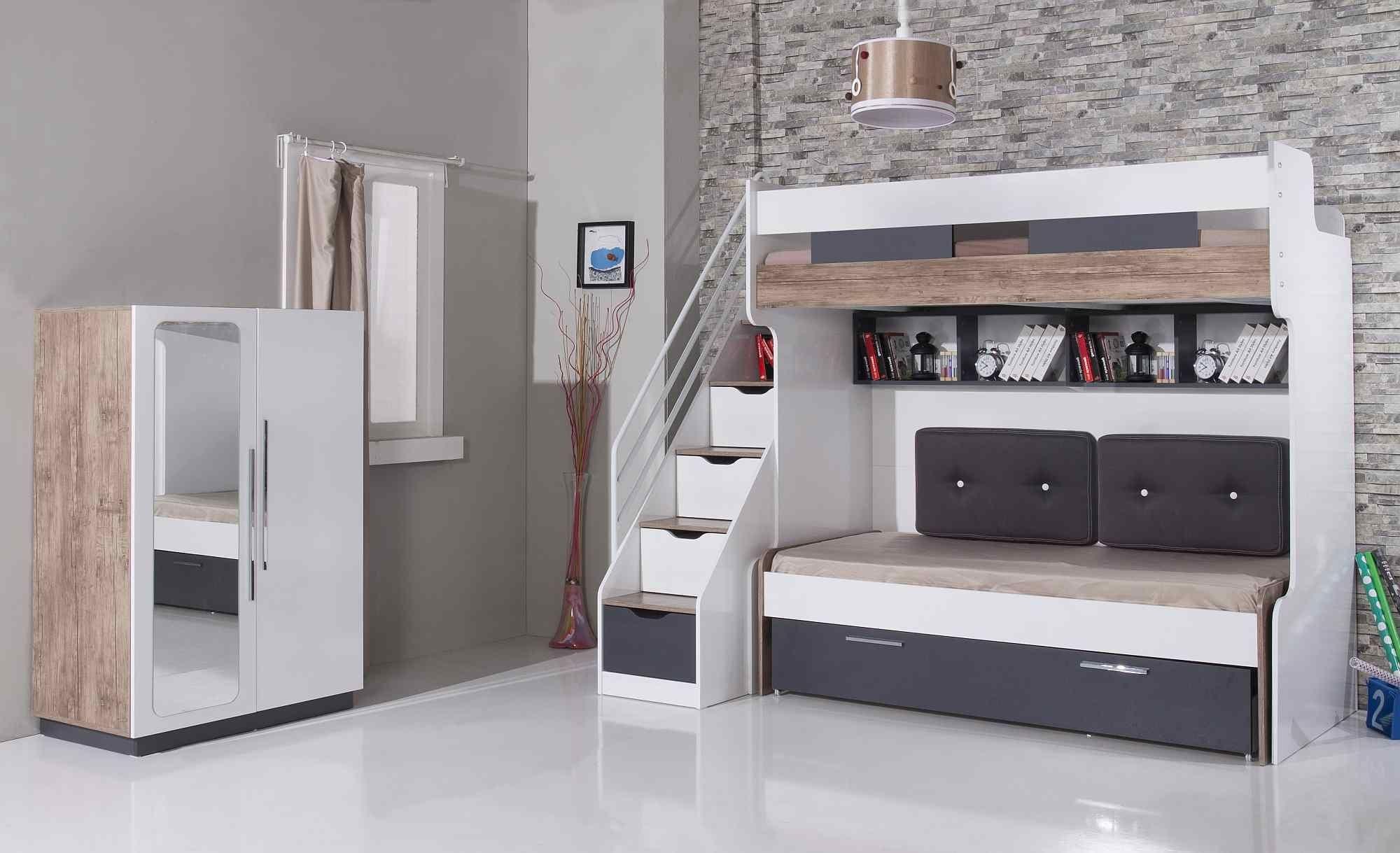 Multifunctionele Kinderkamer Meubel : Compact hoogslaper multifunctioneel bed multifunctionele