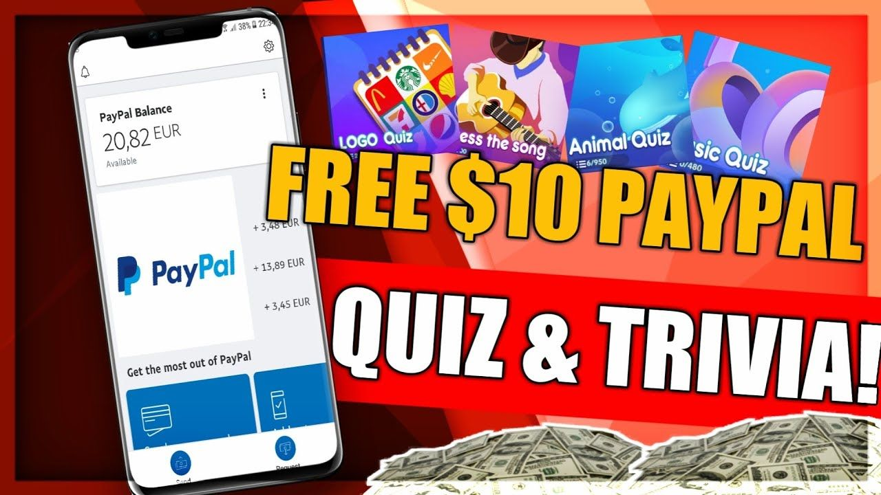 Get Free 10 Paypal from Quiz and Trivia Games! Trivia