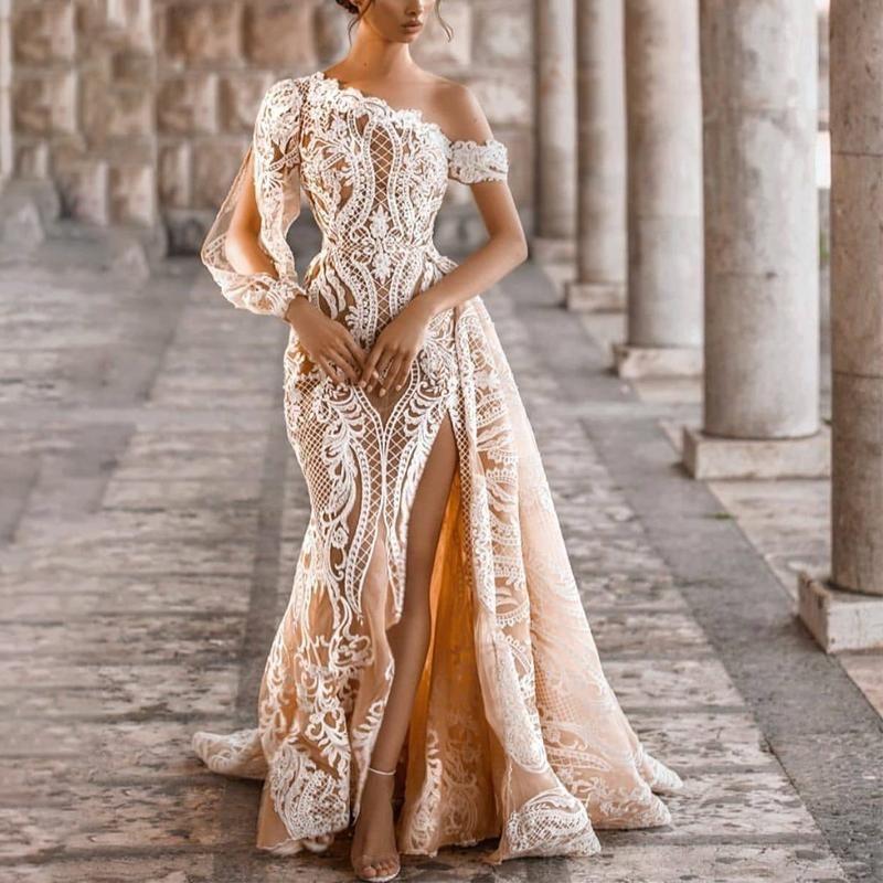 40++ Lace splicing dress info