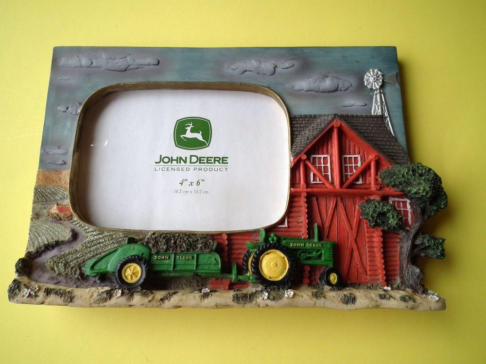 John Deere Tractor Photo Frame 3D 10\
