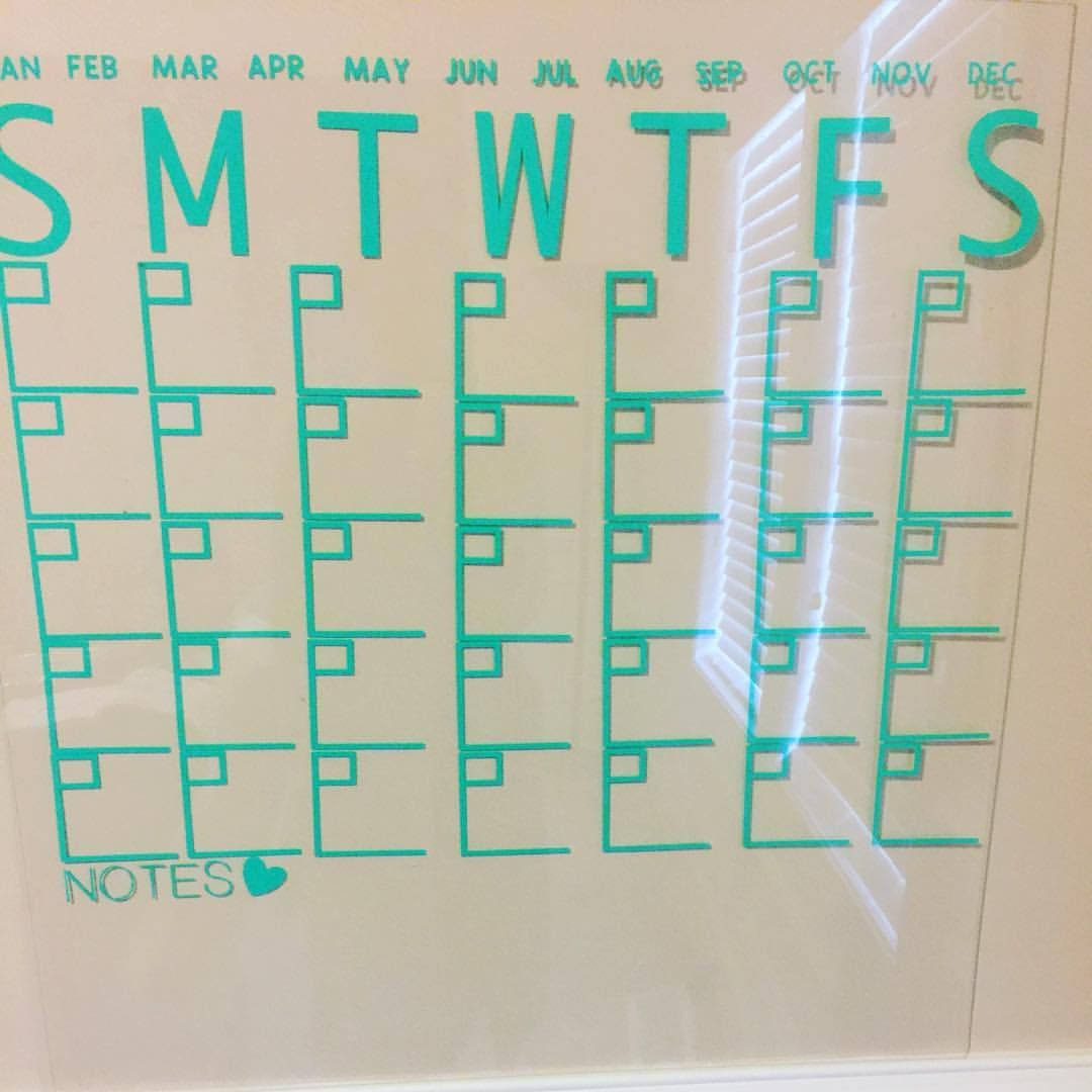 Diy acrylic calendar for school work or home calendar for diy acrylic calendar for school work or home calendar for classroom using cricut solutioingenieria Images