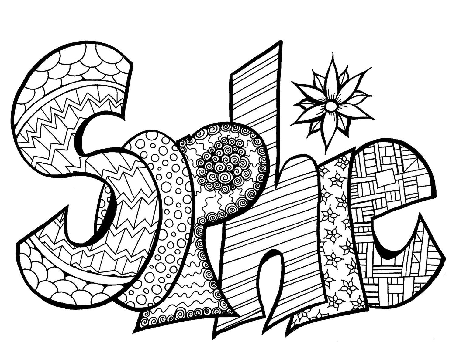 Sophie Free Printable Name Coloring Page Name Coloring Pages Coloring Pages Printable Coloring Pages