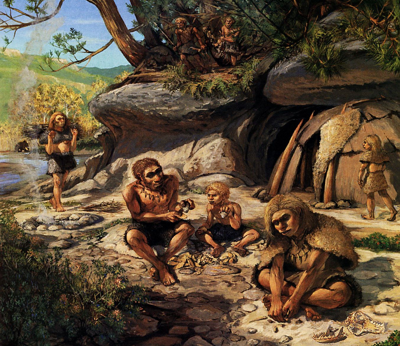 Neanderthal family