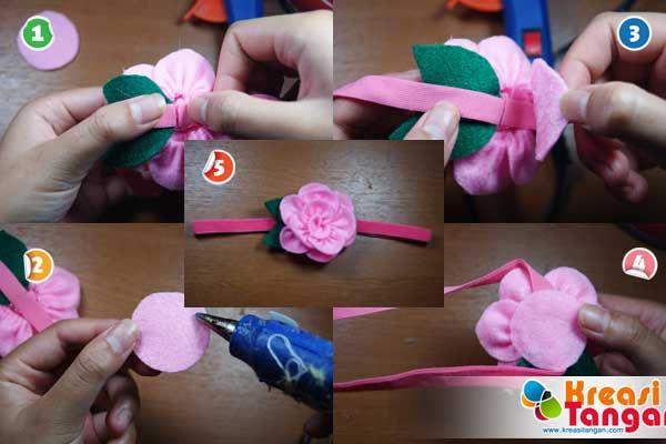 Tutorial Membuat Headband Dari Kain Flanel Board Pinterest